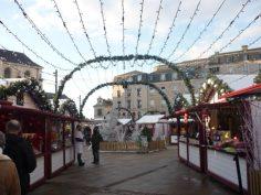 Les décorations au Marché de Noël